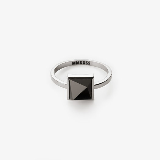 Кольцо MXS с черный агатом/белым агатом