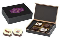 Marriage Gifts Online - 4 Chocolate Box - Alternate Printed Candies (10 Boxes)