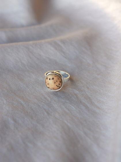 Серебряное колечко с семечкой лонгана