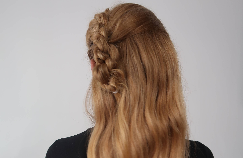 Davines side braid tutorial how to frizzy hair