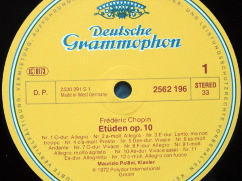 DG / MAURIZIO POLLINI, - Chopin Etudes-Preludes-Polonaises, MINT, 3LP Box Set!