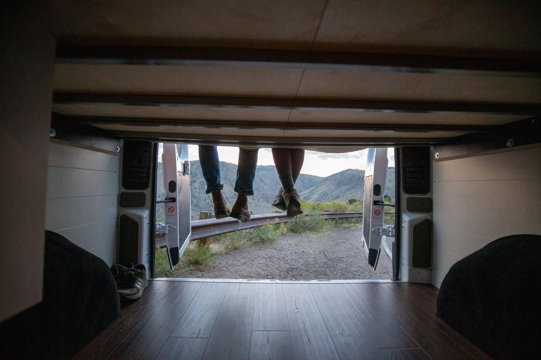 """The Bivy - Sprinter 144 / ProMaster 136 Conversion Van Under-Bed """"Garage"""" Storage - The Vansmith"""