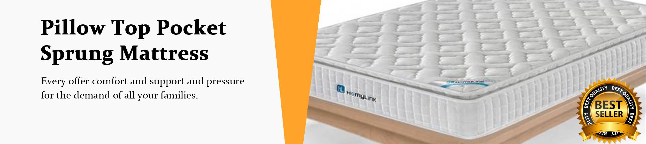 Homylink pillow top mattress