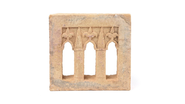 3 Way Stone Lamp Niche From Jaisalmer- 19thC | Indigo Antiques