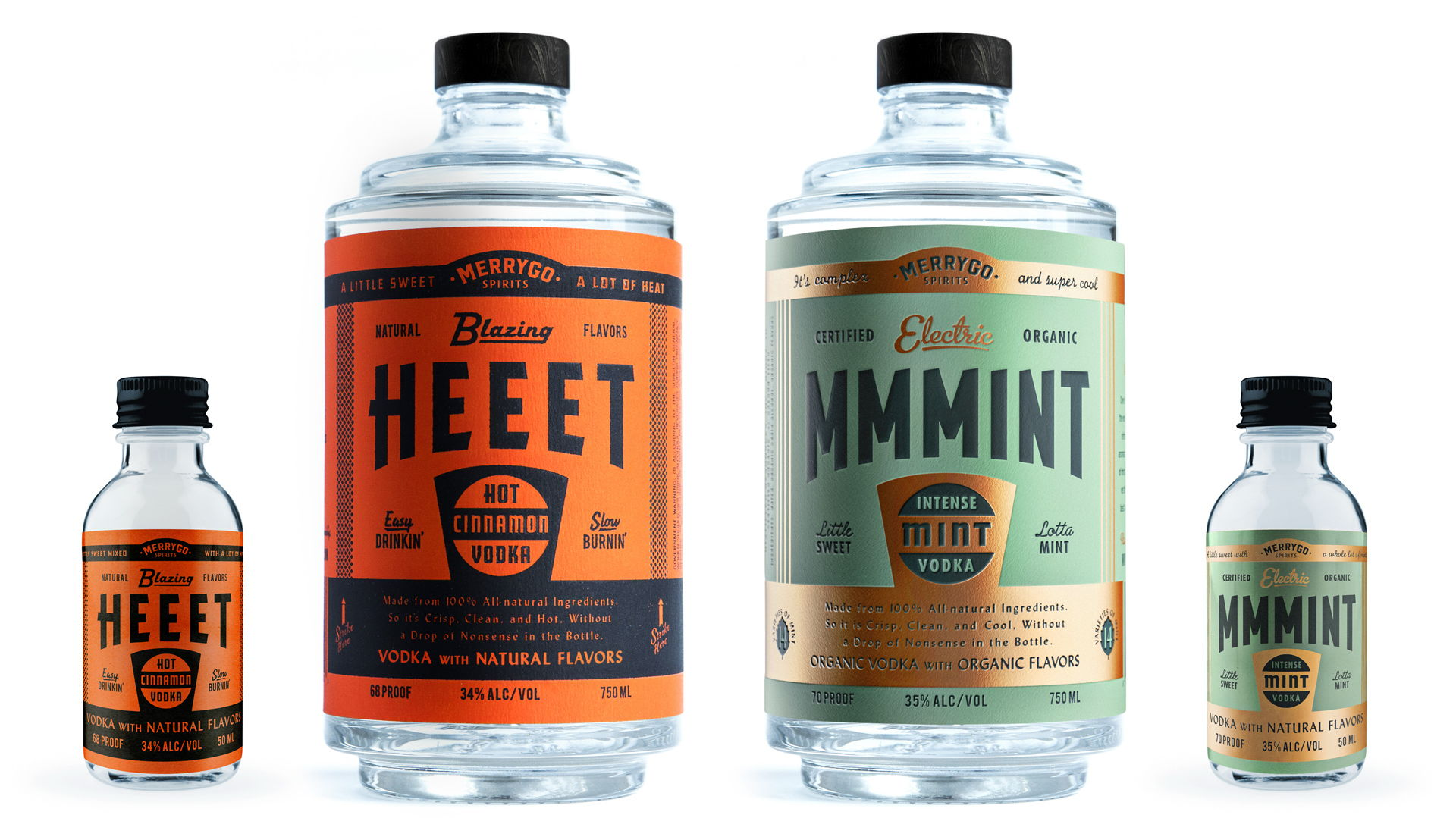 Canales & Co. Draws Inspiration From Fuel Bottles And Matchbooks For MerryGO's Vodka Bottles