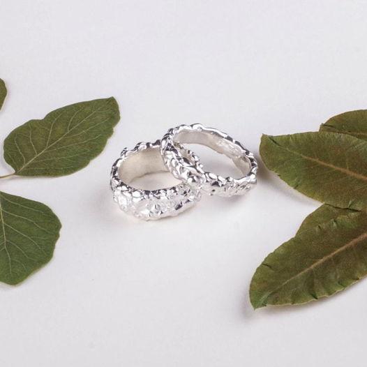 Серебряные обручальные кольца «Капли»