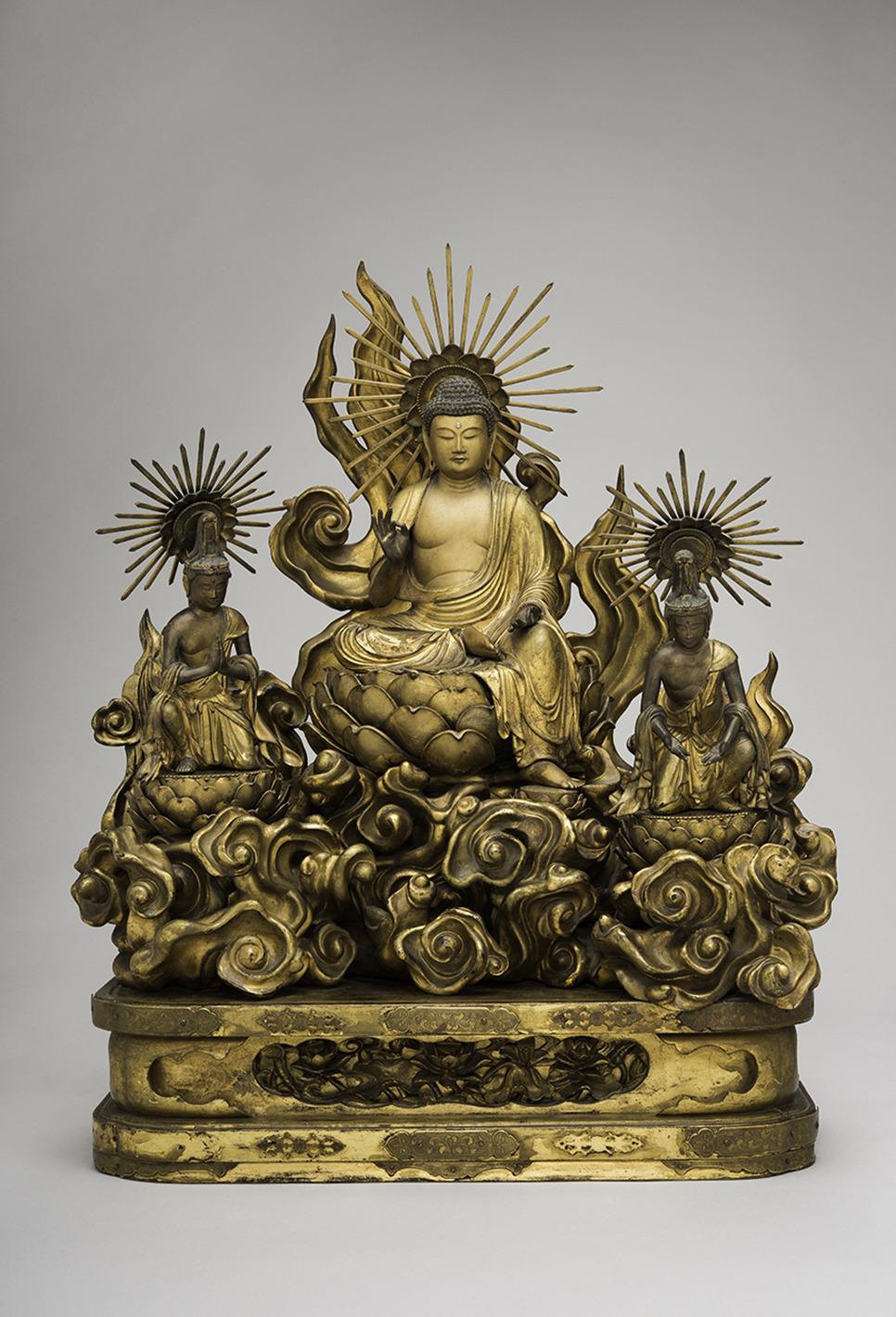 Amida Buddha with Attending Bodhisattvas