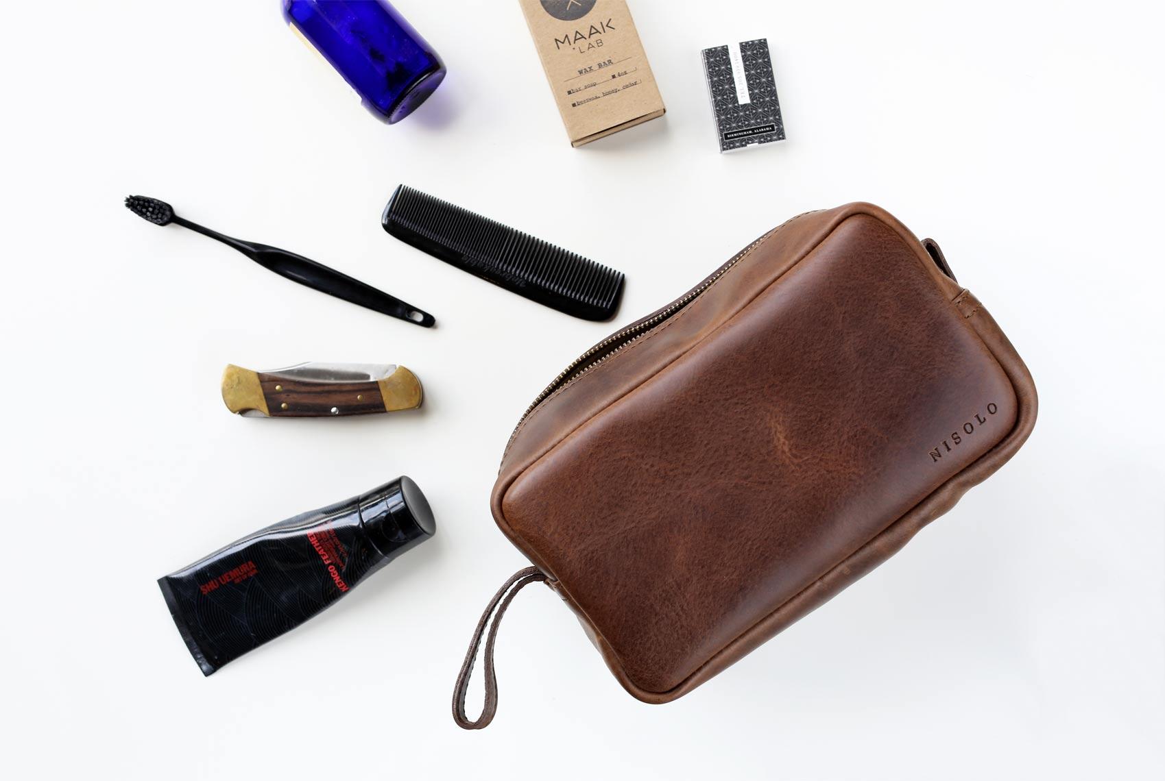 durango dopp kit leather