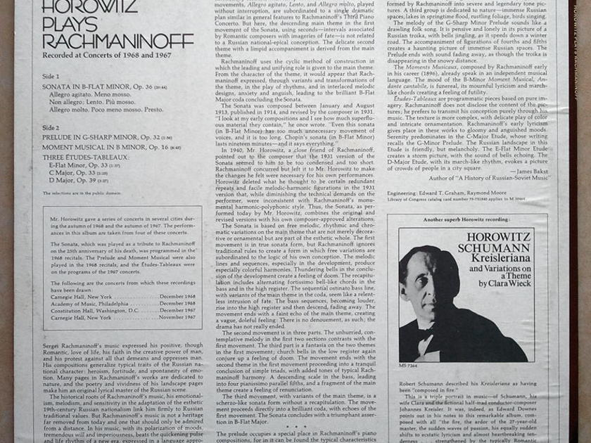 Columbia/Horowitz plays - Rachmaninoff / NM