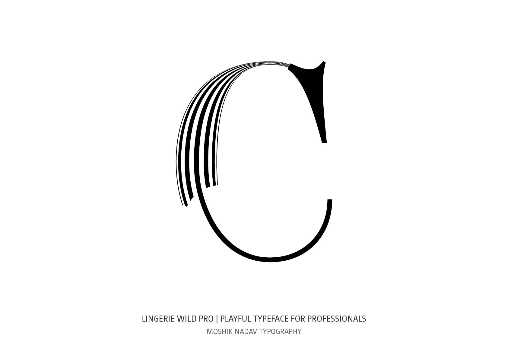 Super sexy uppercase C designed by Moshik Nadav Fashion Typography based in NYC