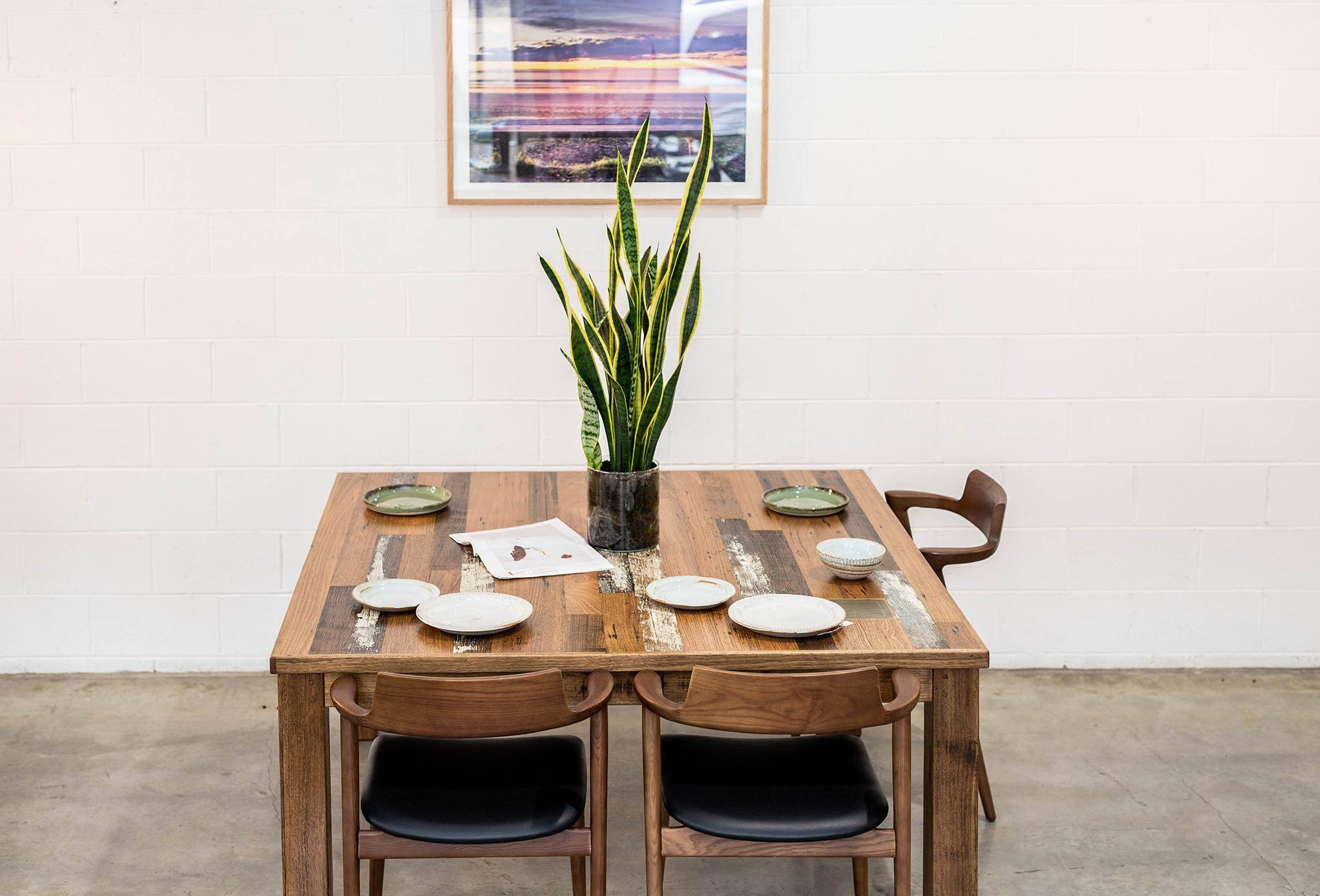 Scatter Board Stained Timber Dining Table
