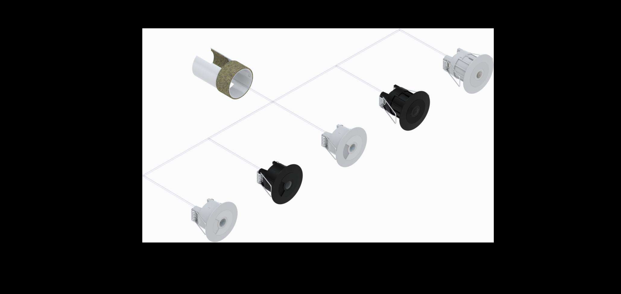 Faradite motion sensor range lutron crestron loxone control4 rako Volt Free potential free dry contact