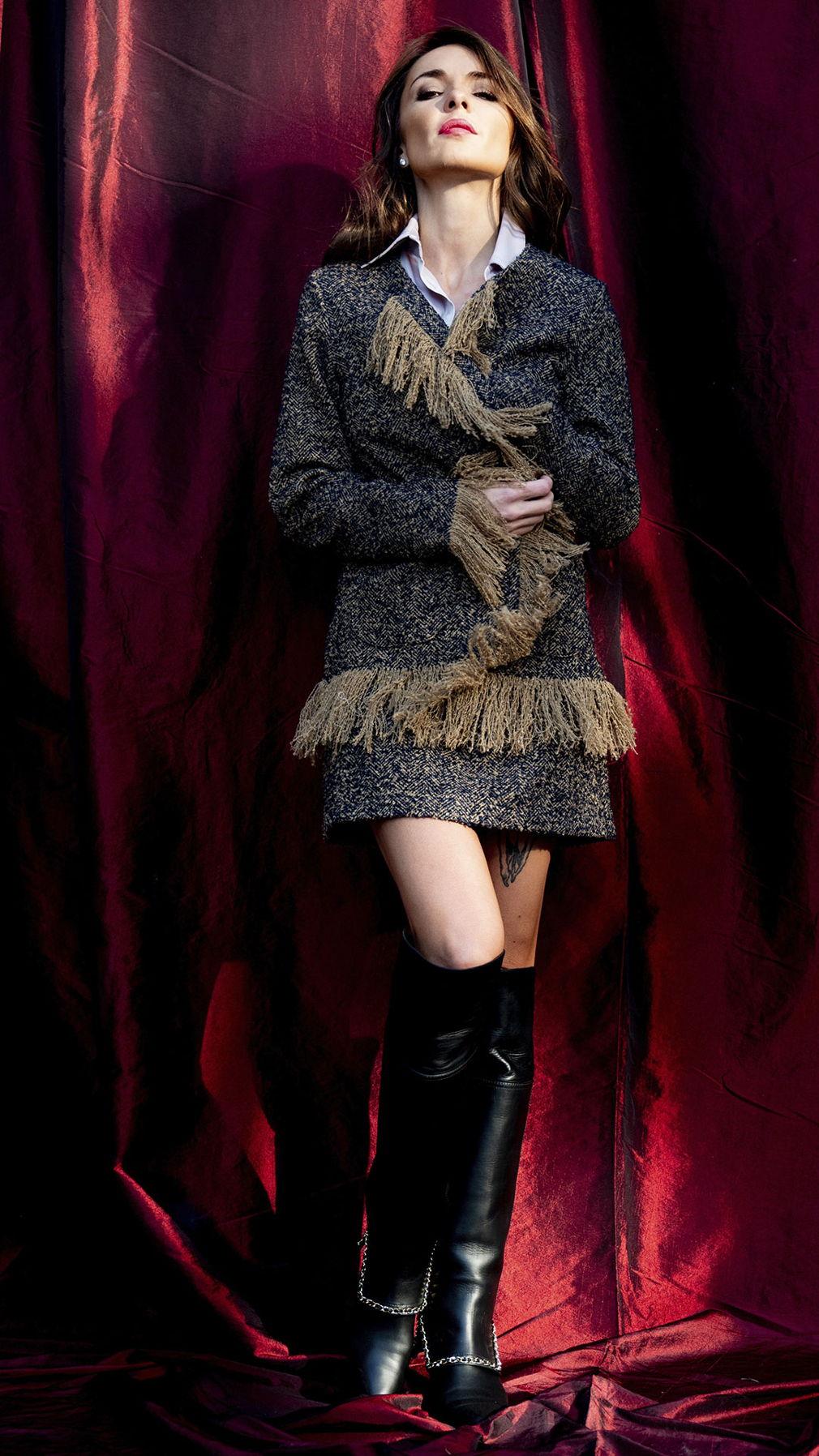 Твидовый костюм в стиле бохо