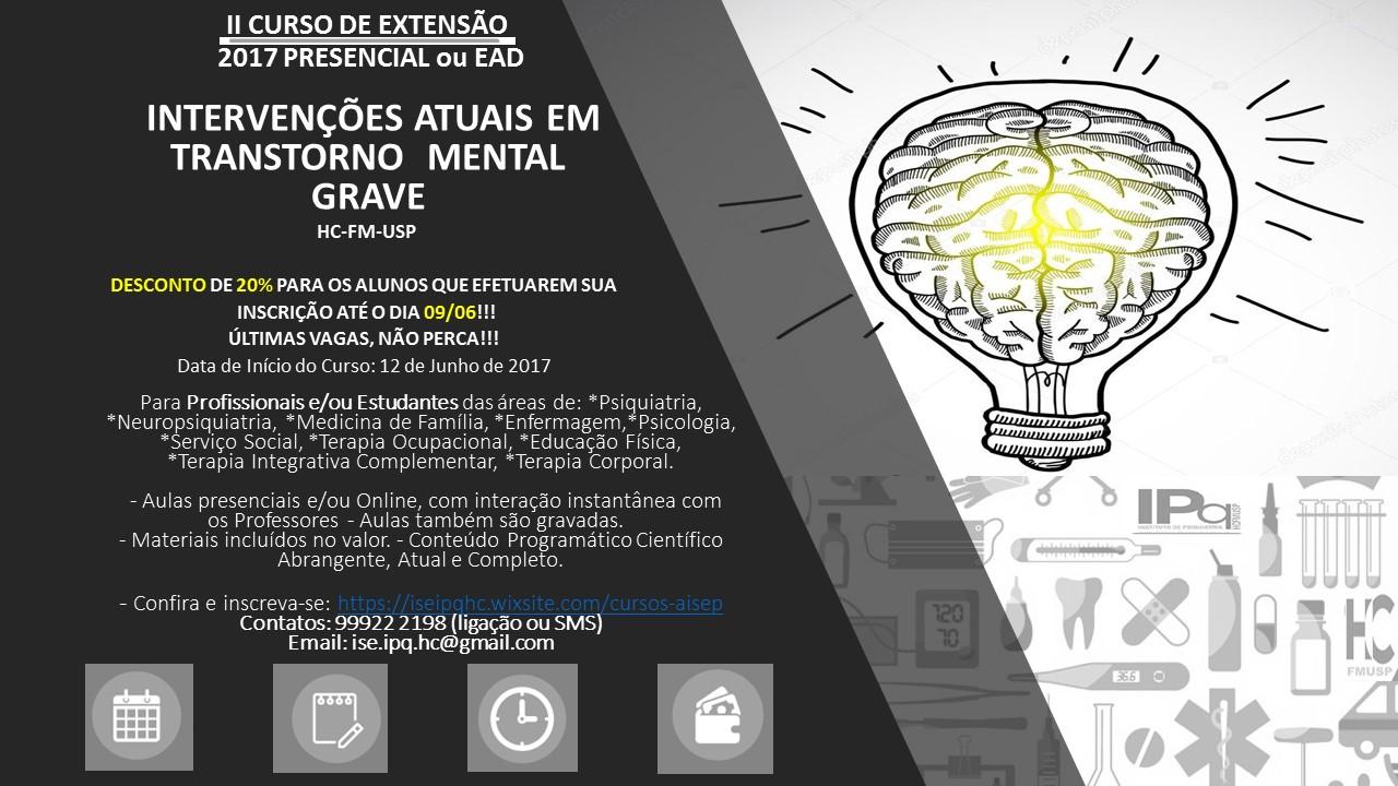 IICurso de extensão: Intervenções atuais em transtorno mental grave