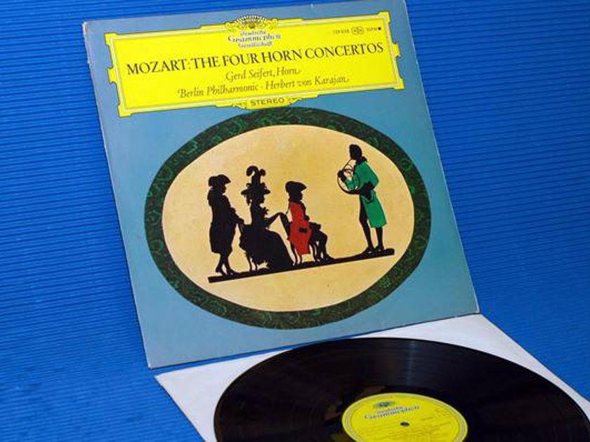 """MOZART/Von Karajan - - """"The 4 Horn Concertos"""" -  Deutsche Grammophon import 1969"""