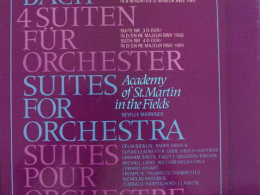Philips / MARRINER, - Bach 4 Suites for Orchestra, NM, 2LP Box Set!
