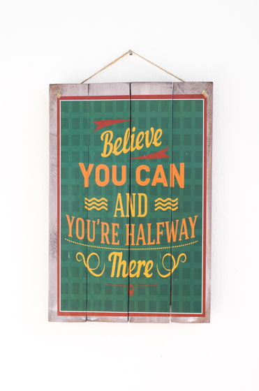 "Декоративная деревянная табличка ""Believe"""