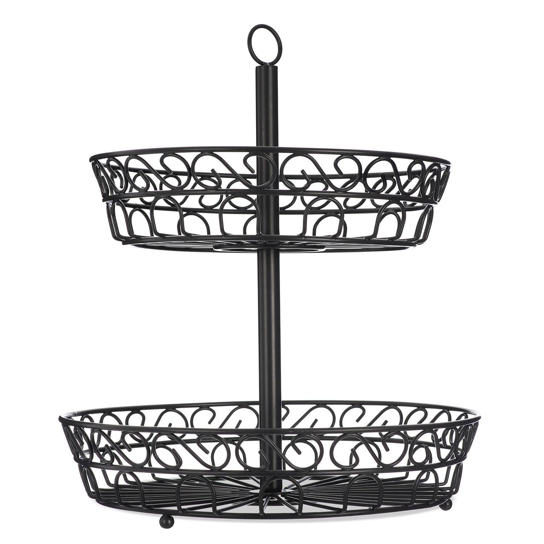 2 Tier Fruit Basket Stand