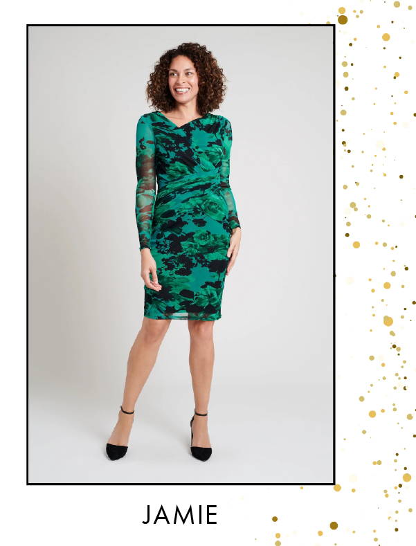 Shop Jamie Green Floral print Dress >