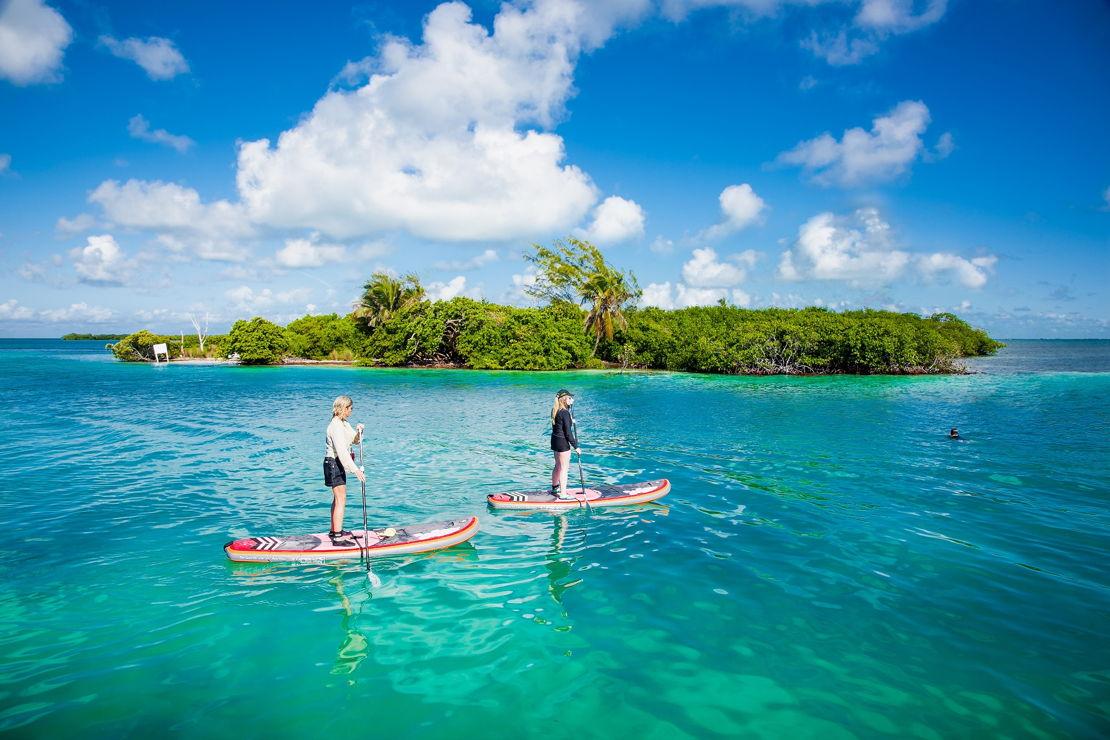 Belize paddleboard Caye Caulker
