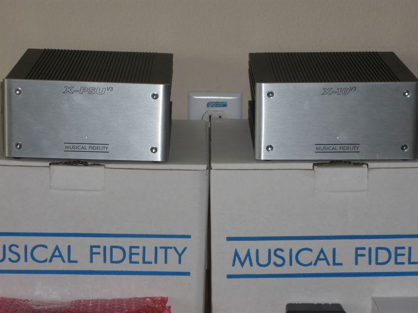 Musical Fidelity X-10 V3 Tube Buffer & X-10 PSU Power Supply