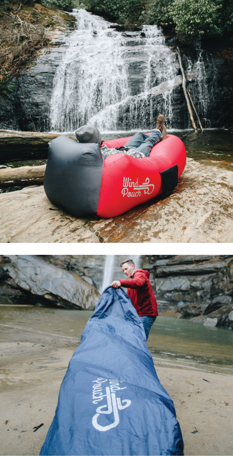 WindPouch GO™ Inflatable Hammock Camping Adventure