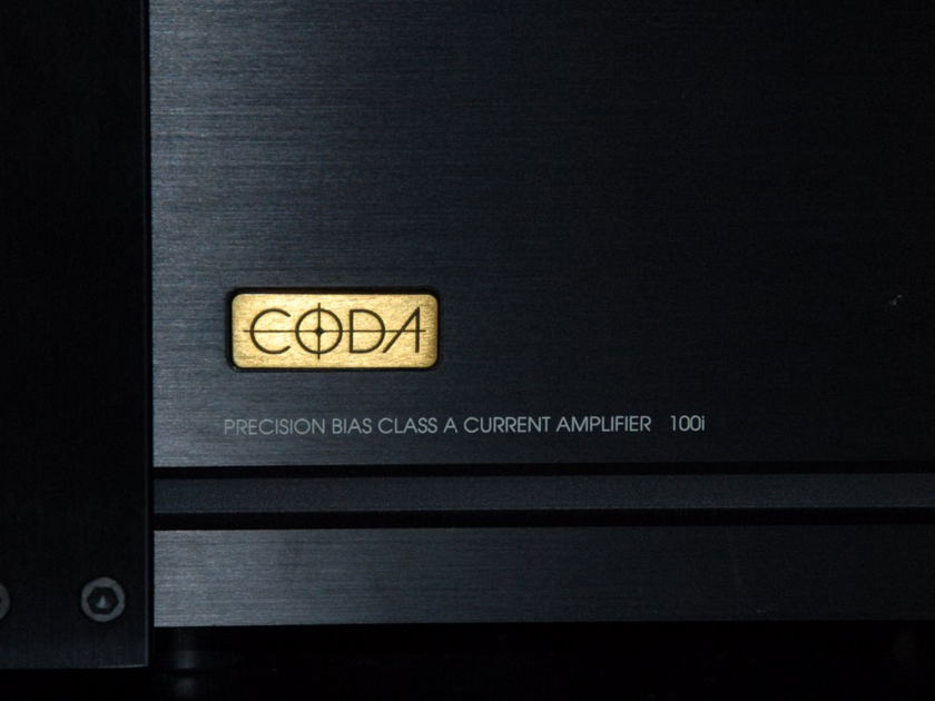 Coda Technologies  System S100  Class A High Current Reference 2 Channel Amplifier 100W X 2