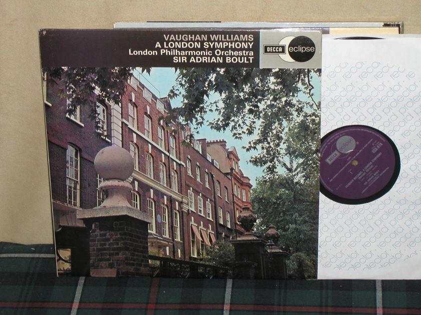 "Boult/LPO - Williams ""A London Symphony"" UK Decca ECS616"
