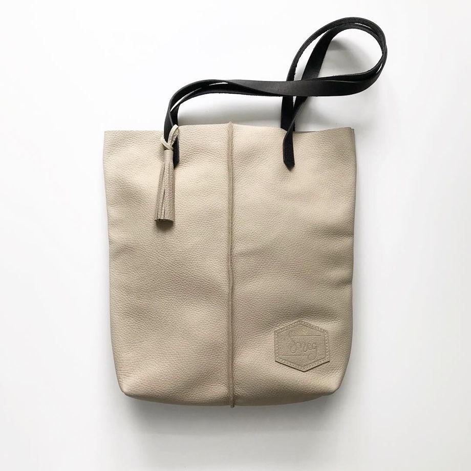 Кожаная сумка-шоппер Tote Cream
