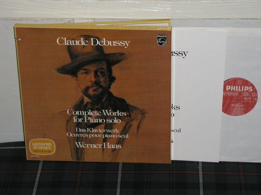 Werner Haas - Debussy Complete Philips import  6770 5lp boxse