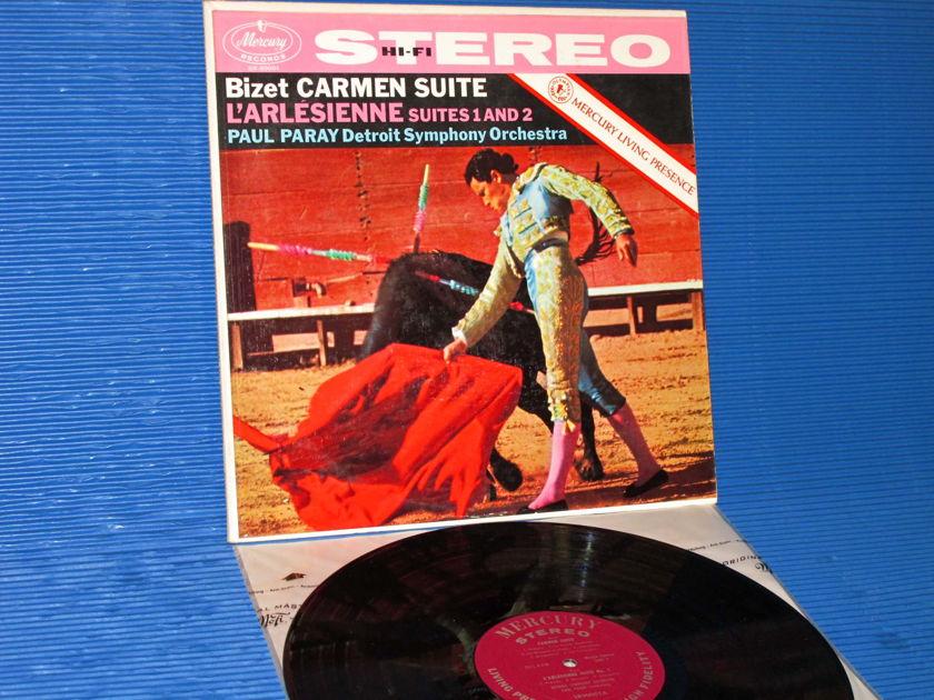 """BIZET / Paray   - """"Carmen Suite / L'Arlesienne Suites 1 & 2"""" - Mercury Living Presence 1958 Early Pressing TAS List"""