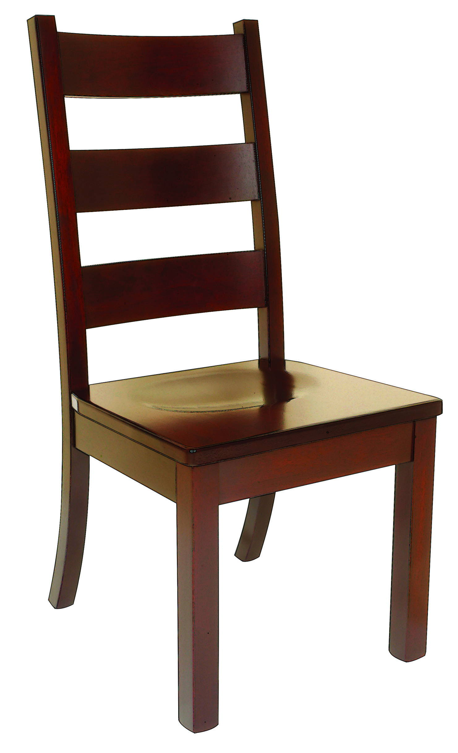 Western Hi-Back Solid Wood, Handcrafted Kitchen Chair or DIning Chair from Harvest Home Interiors Amish Furniture