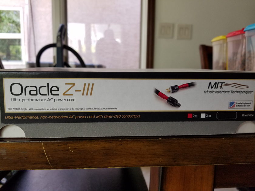 MIT Cables Oracle Z Cord III AC 2 Meters