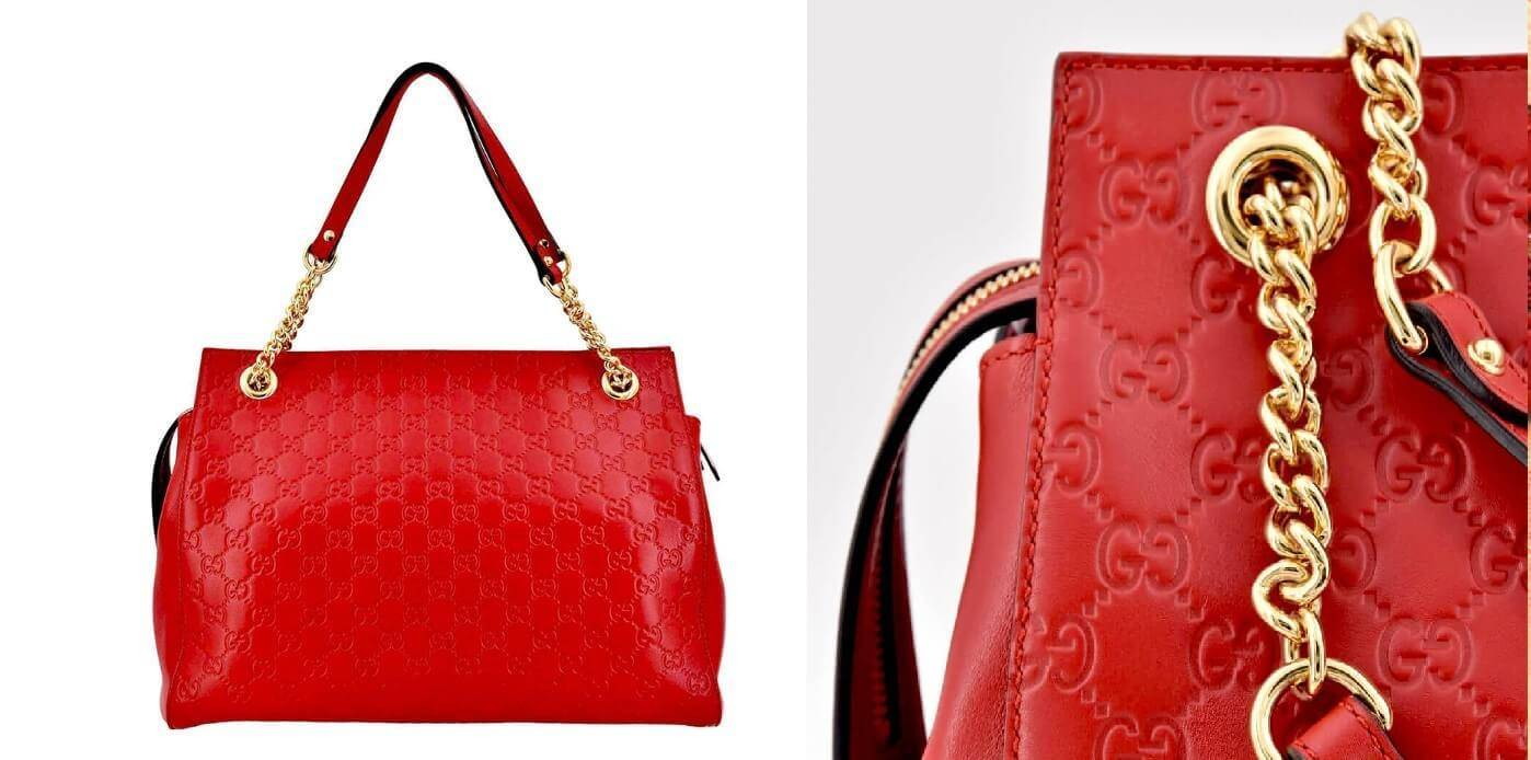 Red Gucci Guccissima Bag