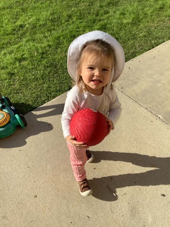 """Toddlers had a """"ball"""" during their outside Thumbs-Up playground time!"""