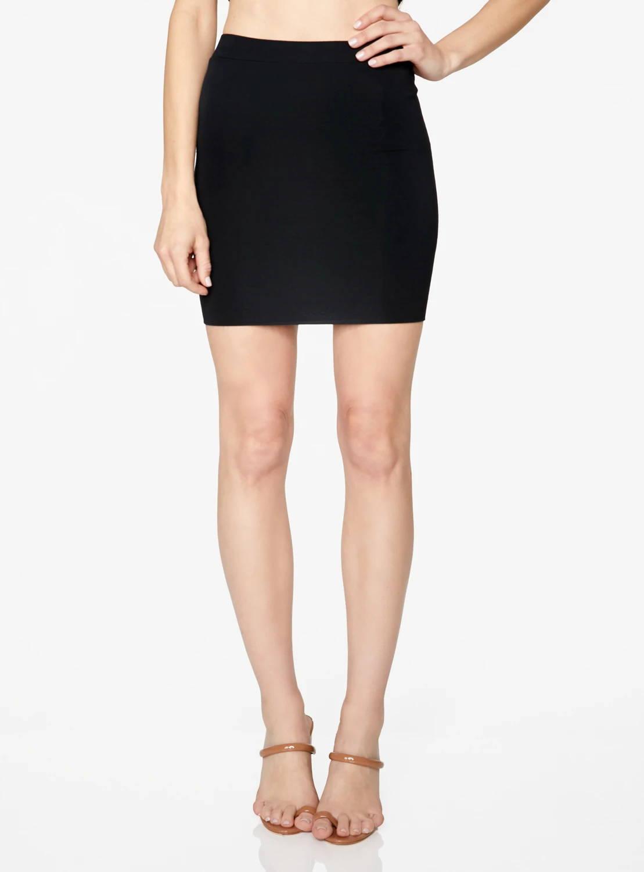 HeyYou Basic Black Knit Mini Skirt