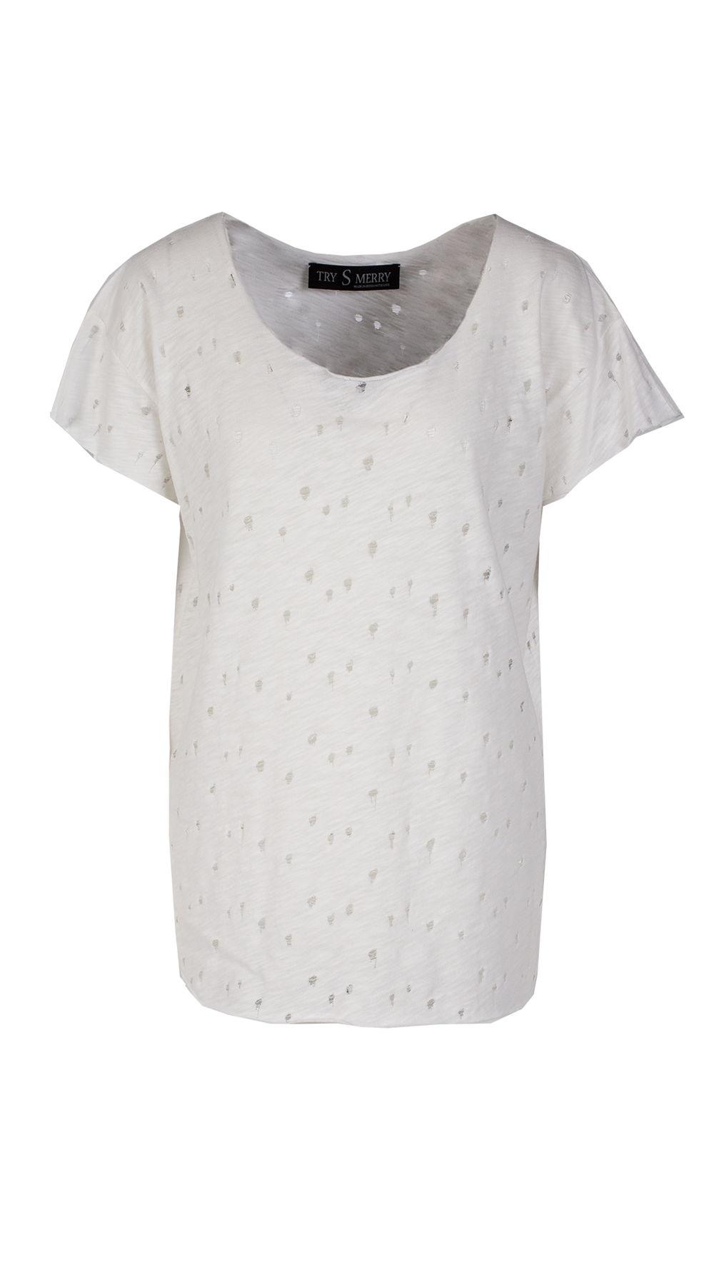 Белая футболка HG без принта