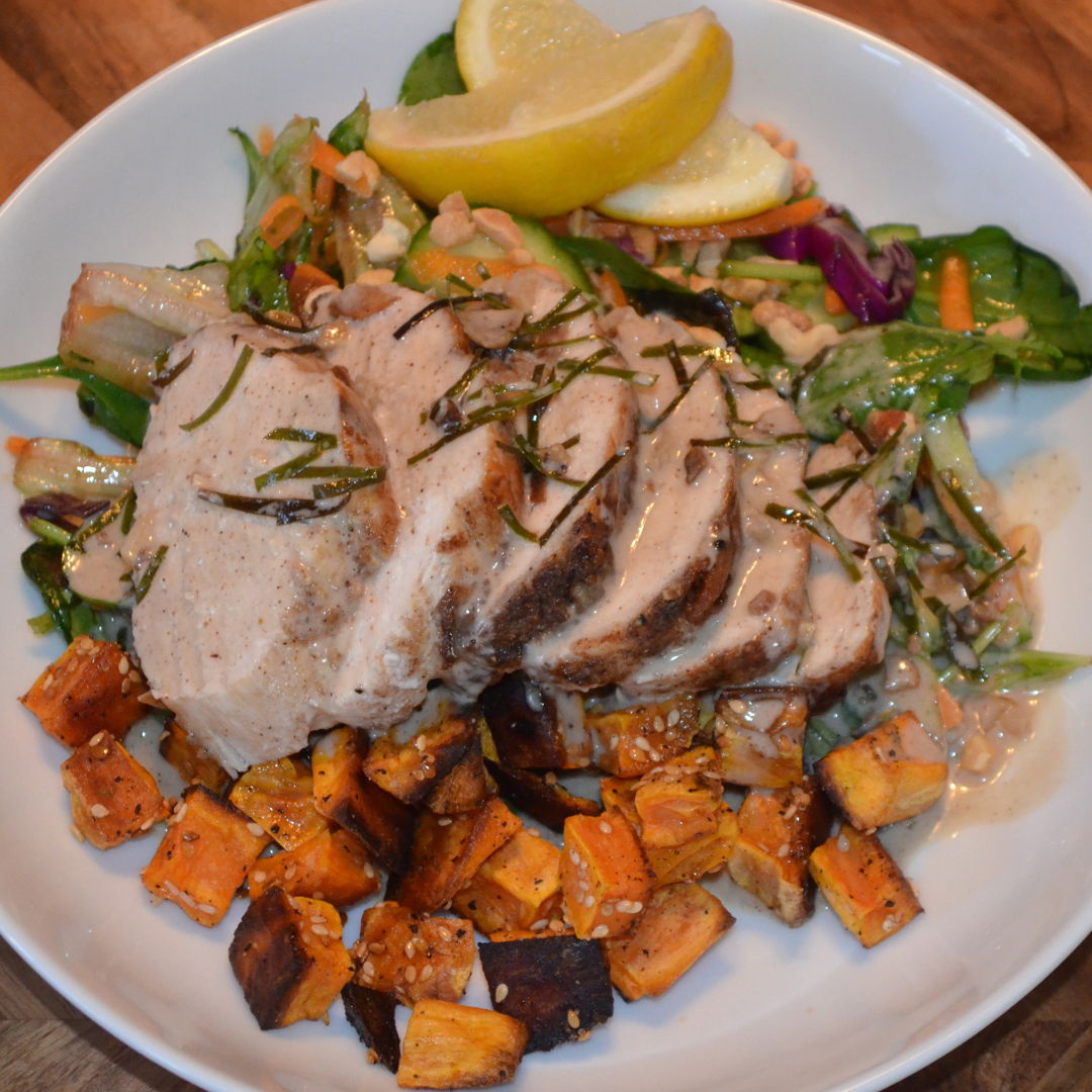 Date: 30 May 2020 (Sat) 132nd Main: Southeast Asian Spiced Chicken with Thai Salad & Kaffir Lime-Coconut Dressing [368] [162.8%] [Score: 9.8] Cuisine: Thai Dish Type: Main