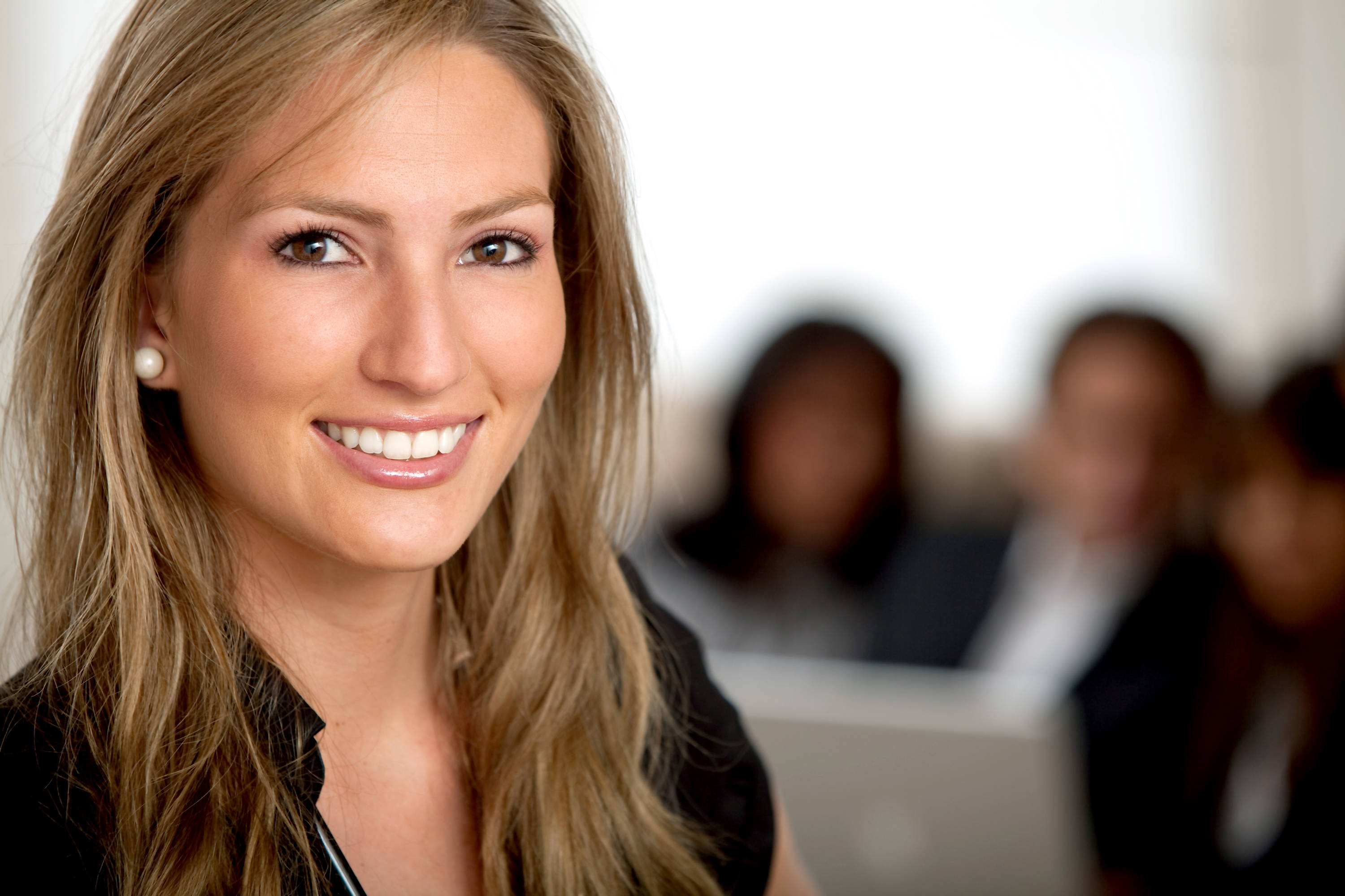 Businesswoman ready to help a client of Delaware Business Incorporators