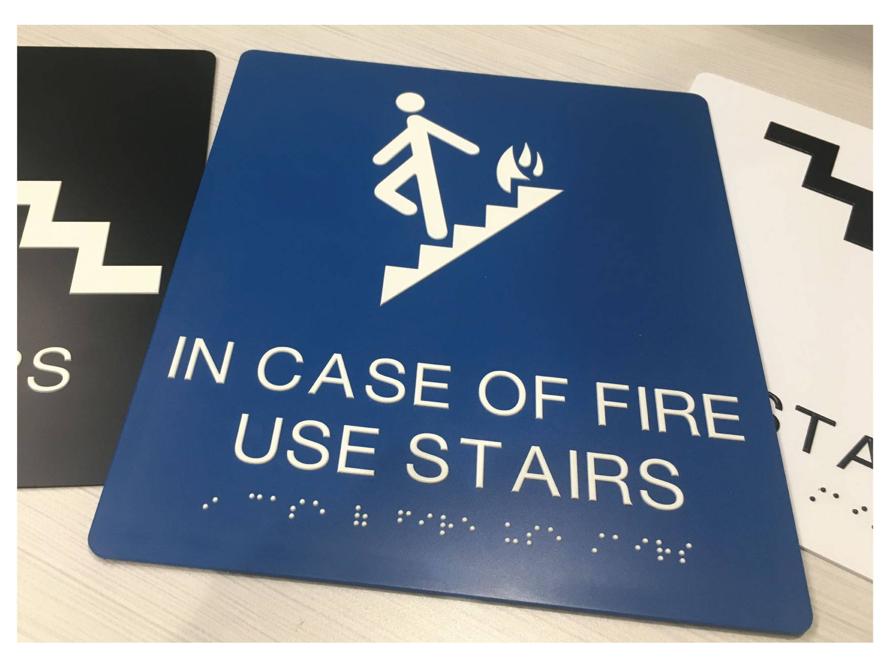 ADA Stairwell Signs with Grade II Braille, Compliant ADA Signs