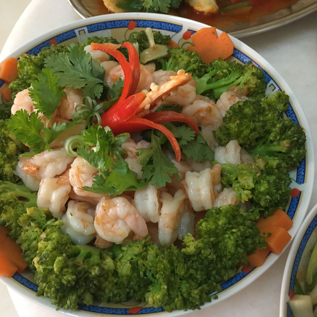 Stir fry Brocoli and Prawns