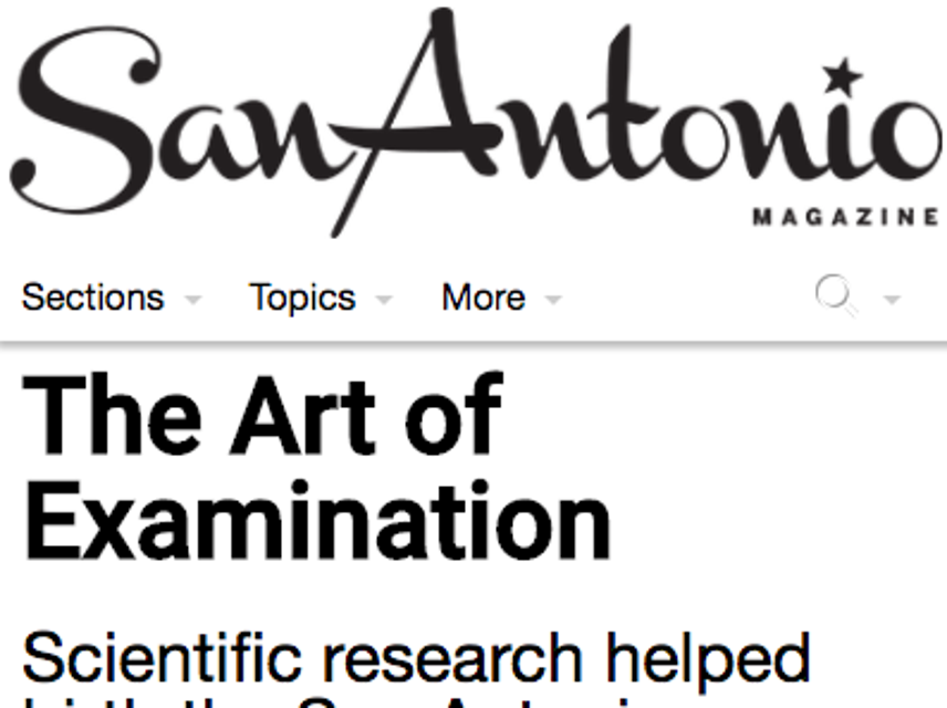 San Antonio Magazine, Art of Examination
