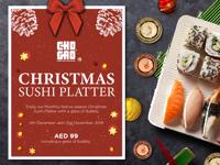 CHRISTMAS SUSHI PLATTER image