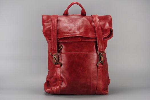 """Красный кожаный рюкзак """"Ruby"""""""