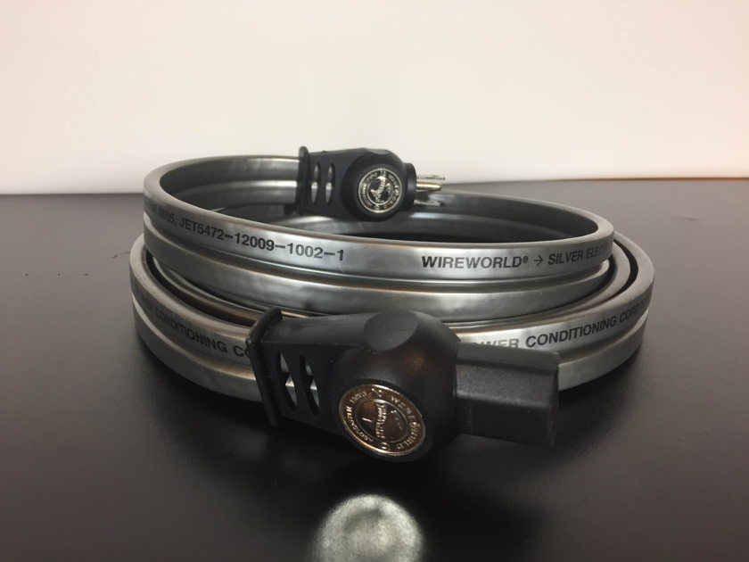 Wireworld Silver Electra 7 2 meter, 15A Power Cords Priced to Sell Fast