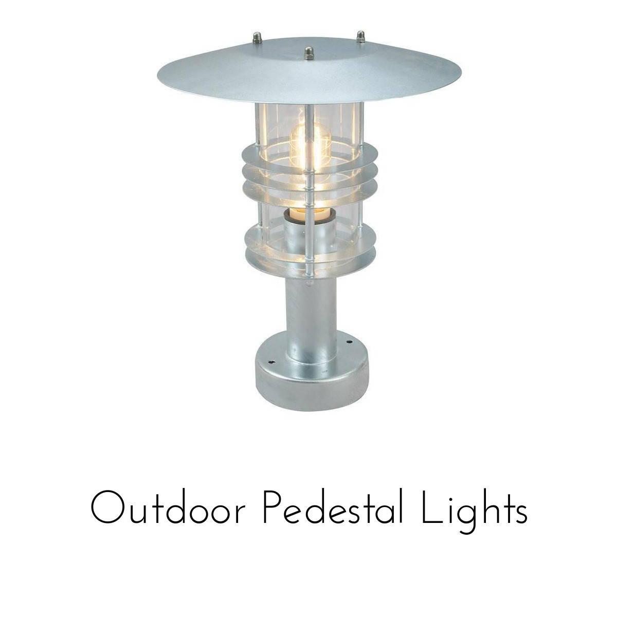 outdoor pedestal lighting