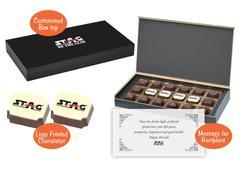 Customized corporate diwali gifts (18 Chocolates - 100 Box)