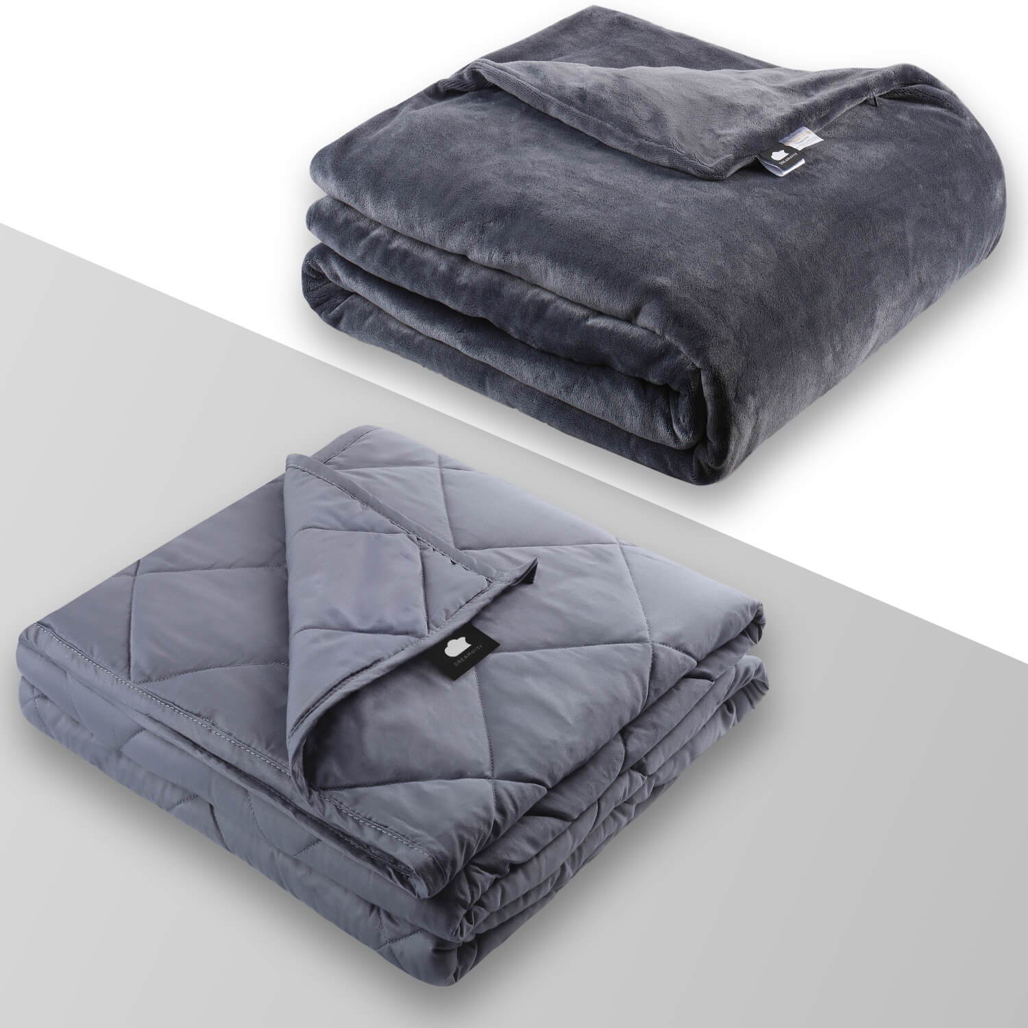 DREAMality Weighted Blanket for Adult Kids Heavy Anxiety Blanket 15 20 25 lbs Twin Full Queen King Size Cooling Throw