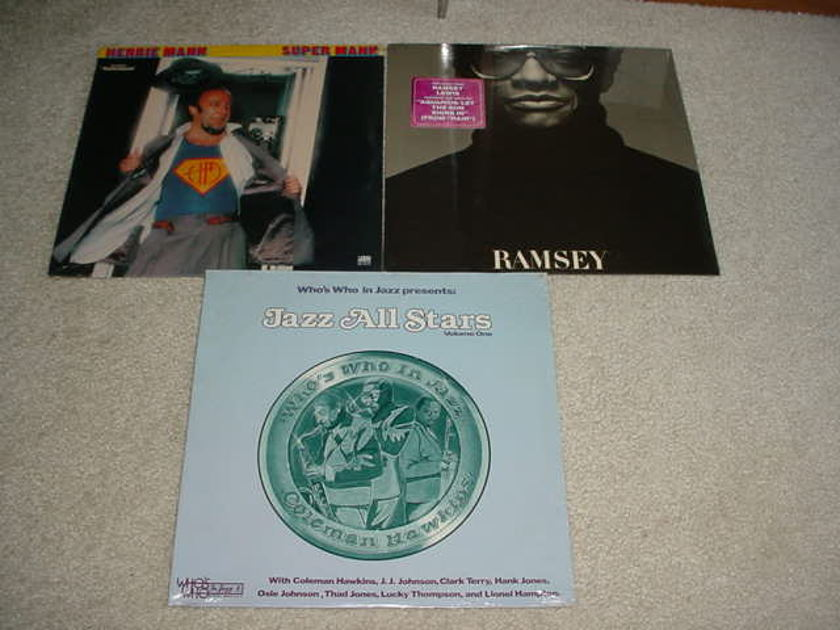 ramsey lewis herbie mann jazz all stars - 3 sealed lp records