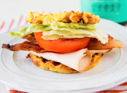 Chaffle BLT Sandwich With Turkey
